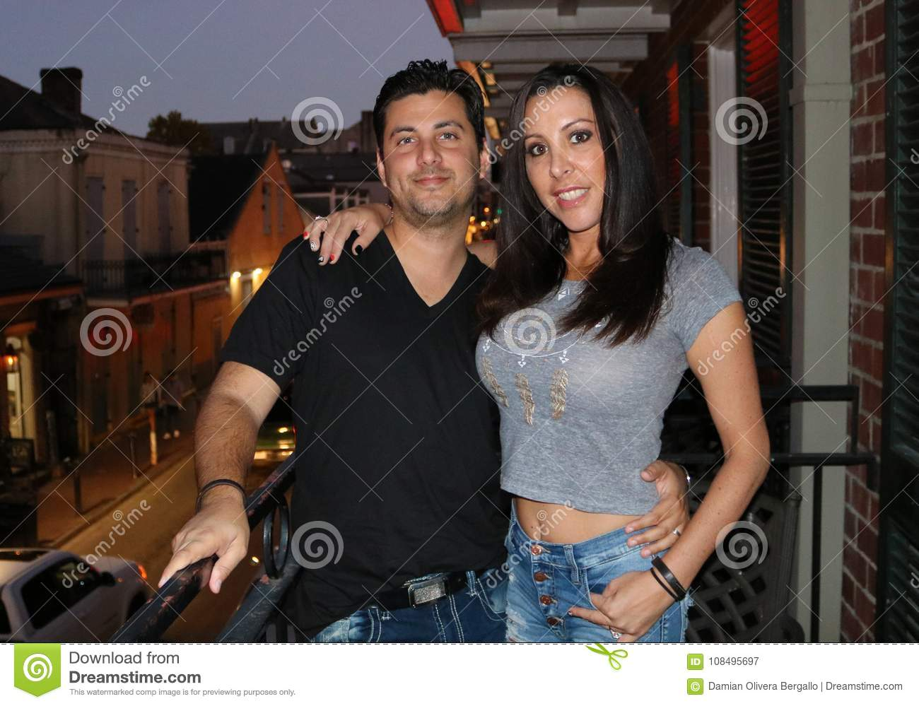 Beautiful couple during a visit to New Orleans LA