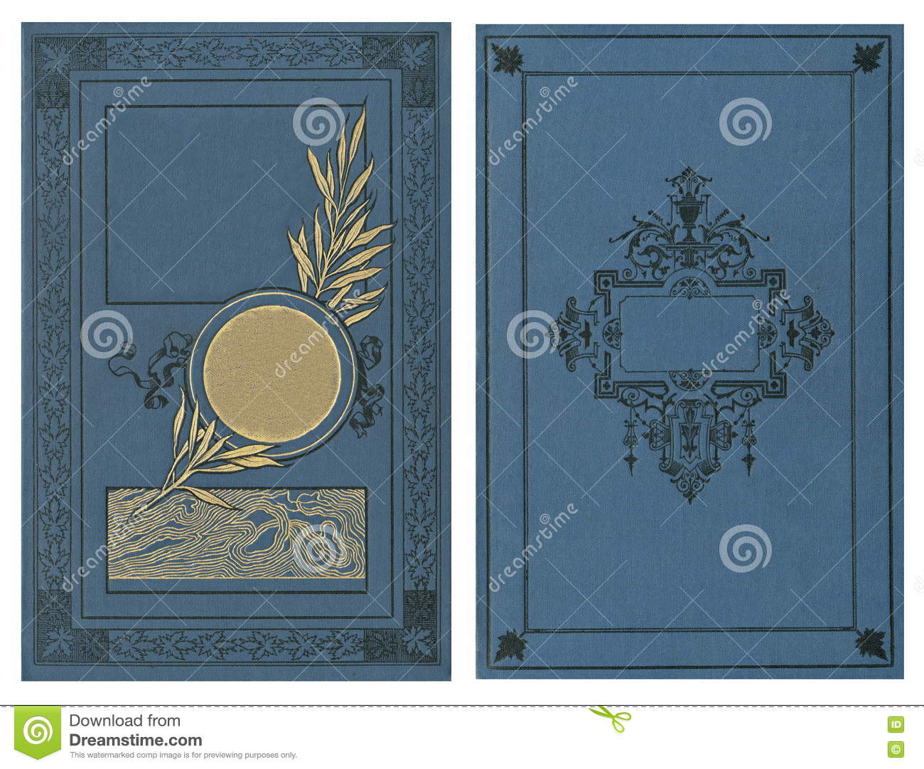 Book Cover Black Label : Beautiful cover of a vintage book with floral frame an