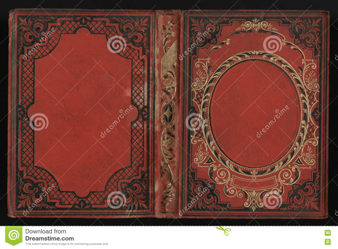 Old Book Cover Blank : Weathered and scratched paper book cover royalty free