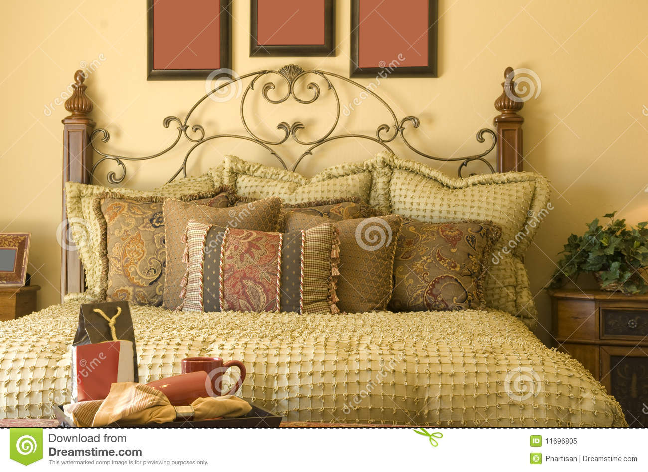 Beautiful cozy traditional style bedroom decor stock image image 11696805 - Beautiful snooze bedroom suites packing comfort in style ...