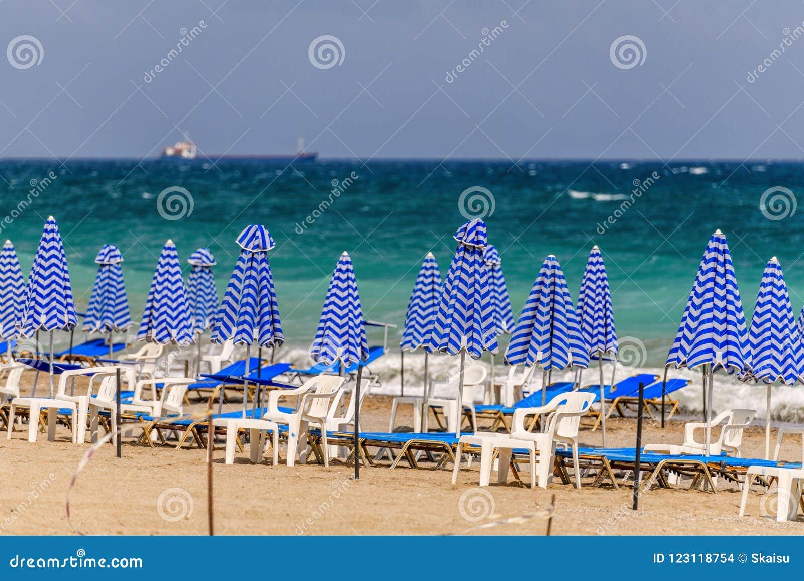 Beautiful Cretan Beach On Chania Region In Crete Island