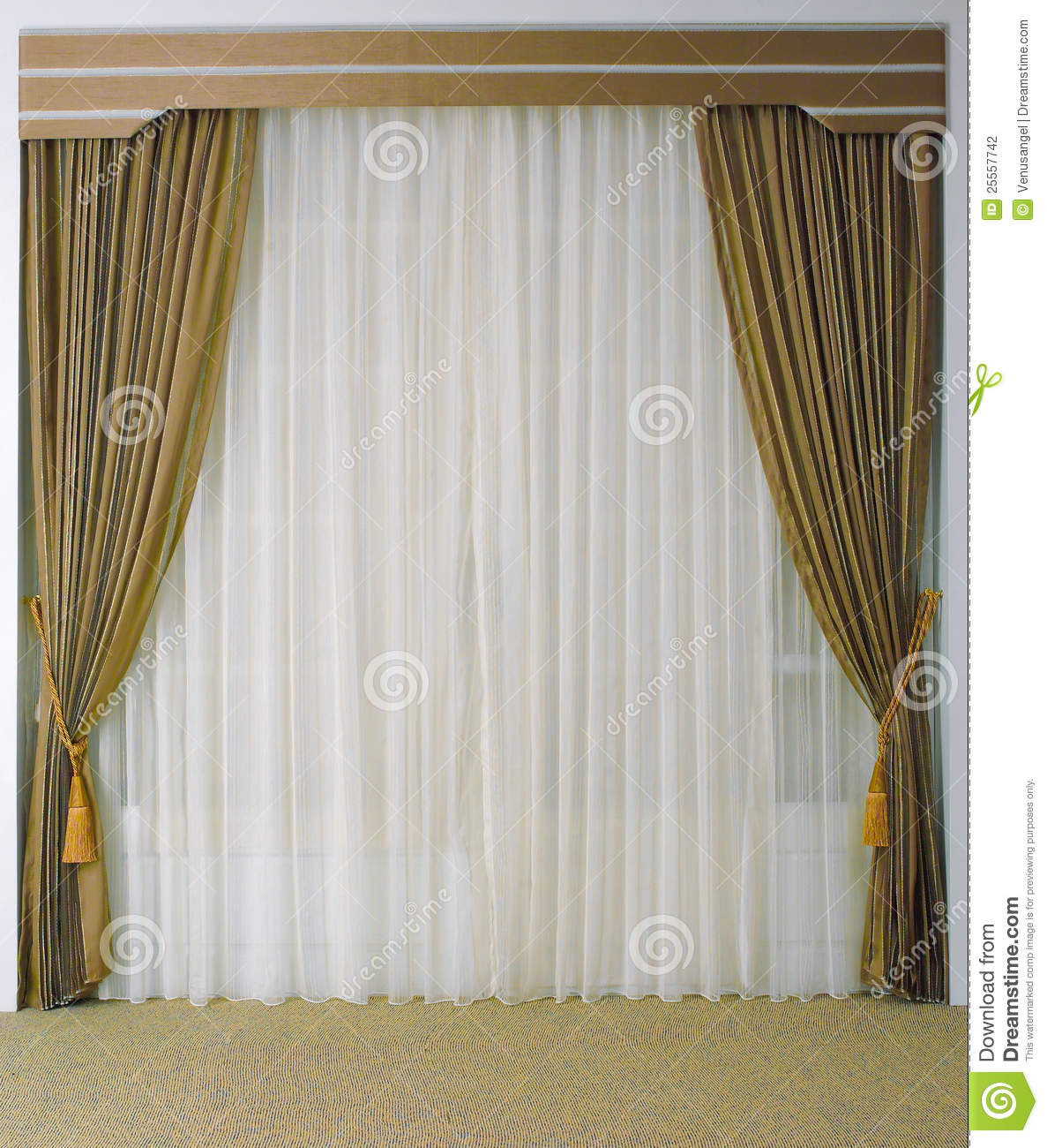Cost Less Carpet >> Beautiful Curtain And Tassels Stock Photo - Image of decoration, light: 25557742