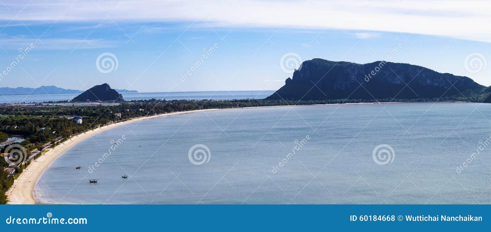 Beautiful curve of beach