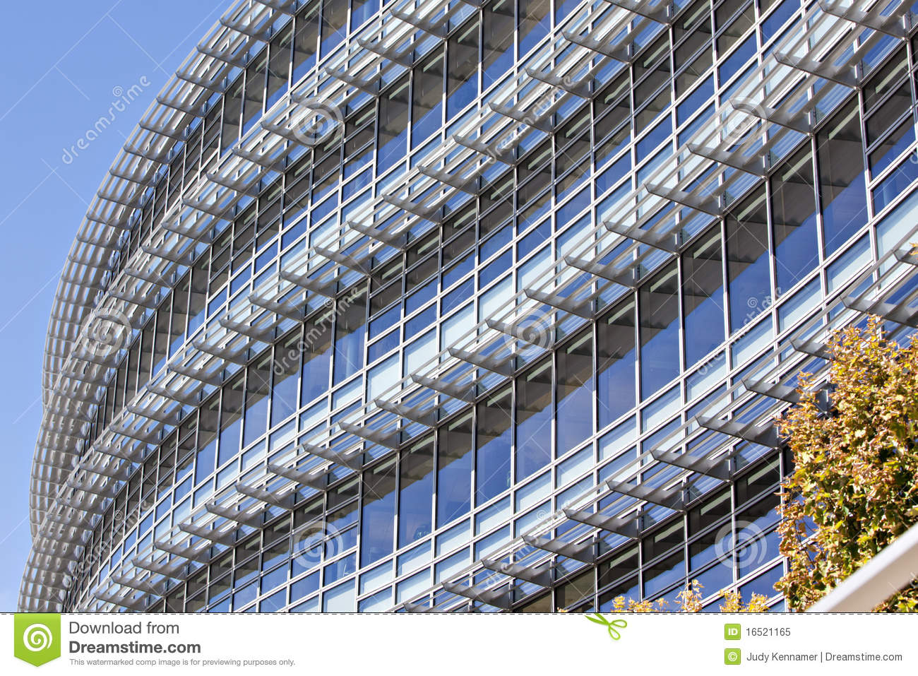 beautiful curved exterior of modern office buildin beautiful office building