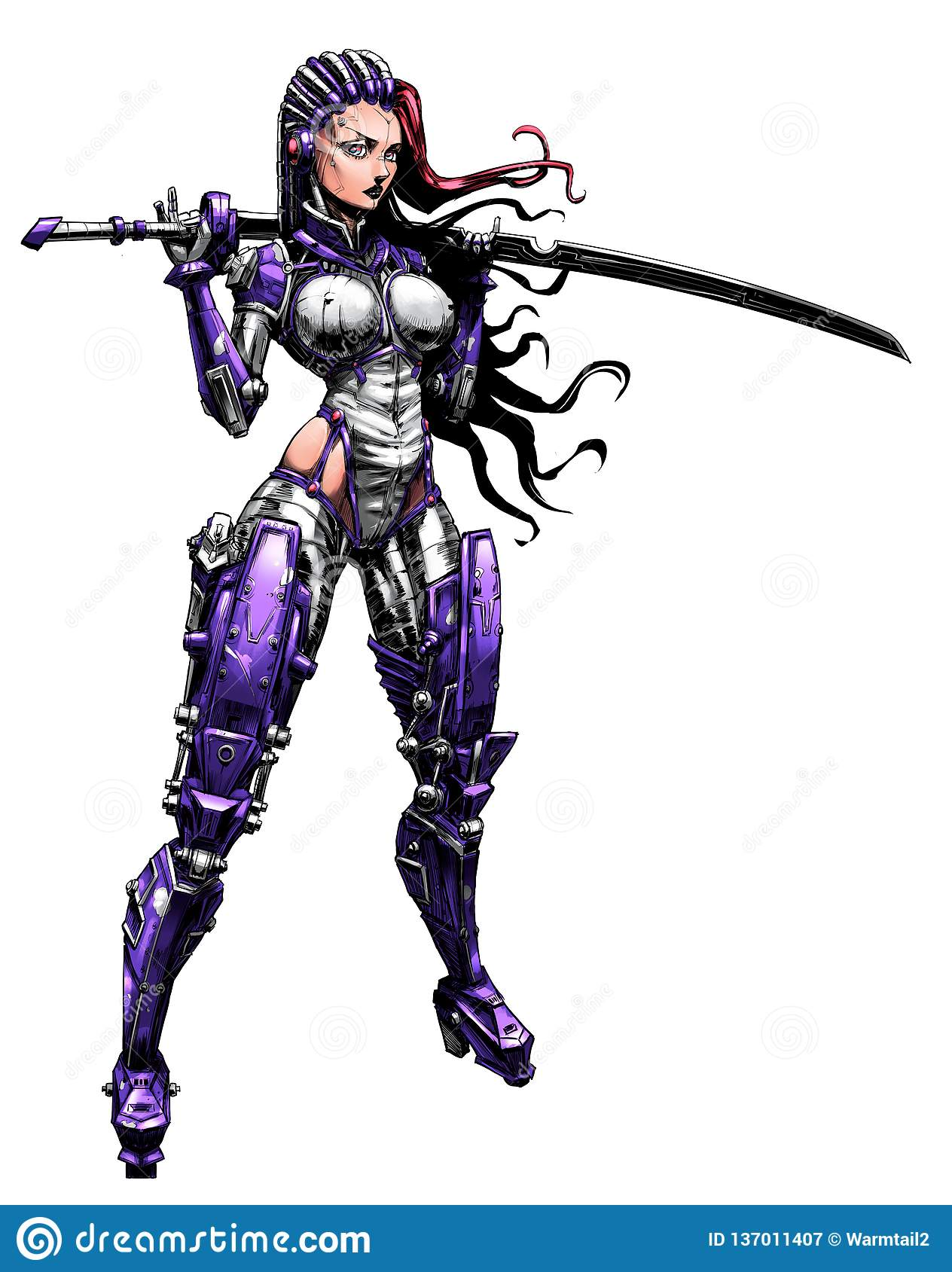 Beautiful cyborg girl