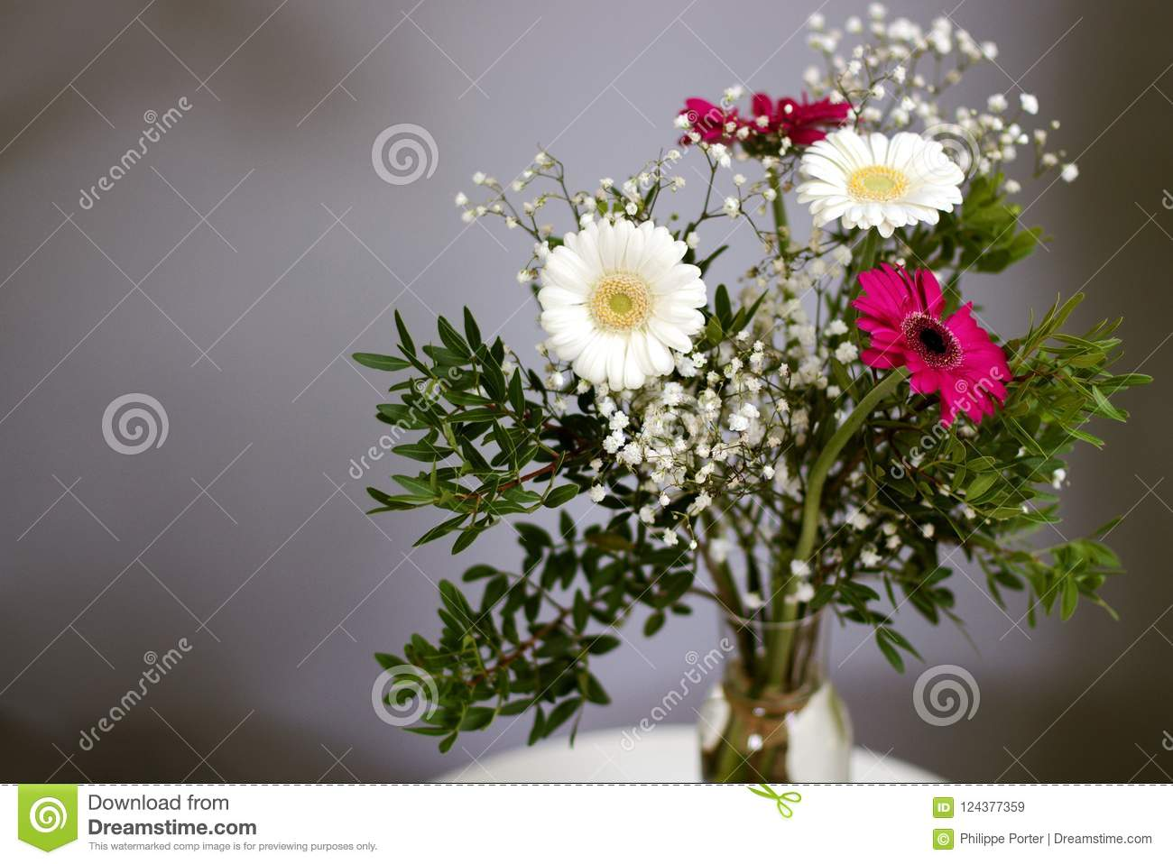 New Beginnings Bouquet Daisy Flowers White Red Petals Loyal Love