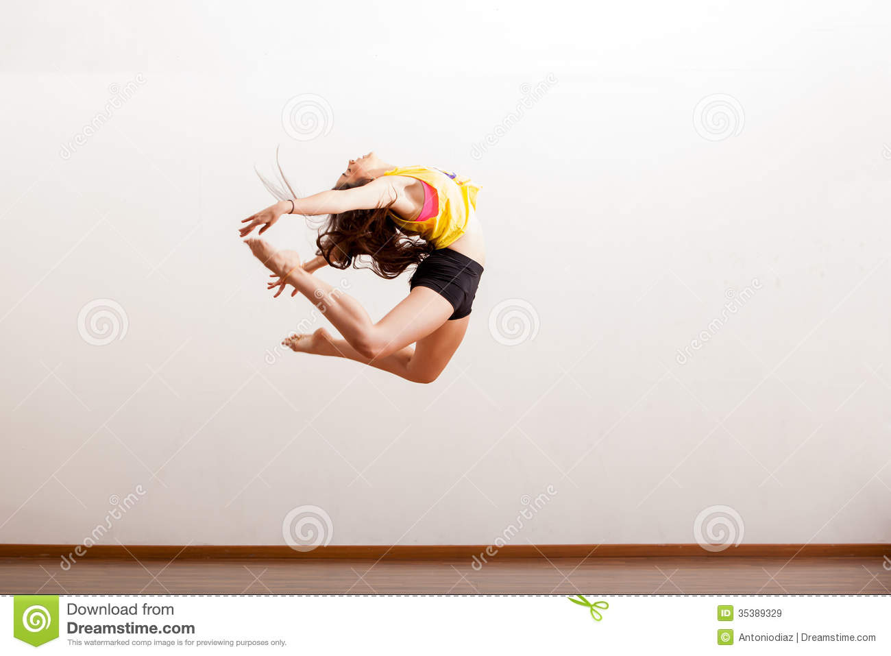 Beautiful Dancer Up In The Air Stock Image Image Of Floor