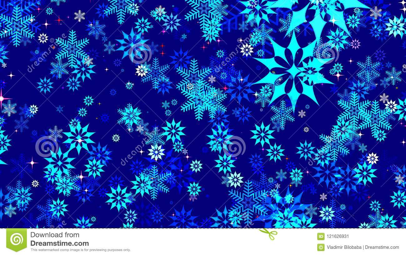 dark blue christmas background stock illustration illustration of realistic beautiful 121626931 https www dreamstime com beautiful dark blue christmas background lots snowflakes different shapes image121626931
