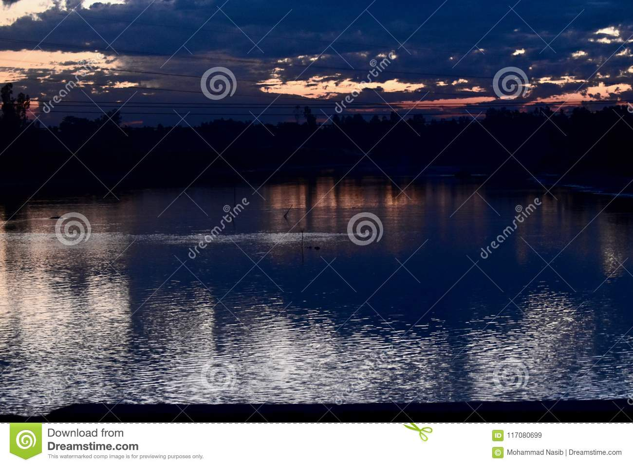 Download A Beautiful Evening Dramatic Sky With Reflection Unique Photo Stock Image - Image of cool, dark: 117080699