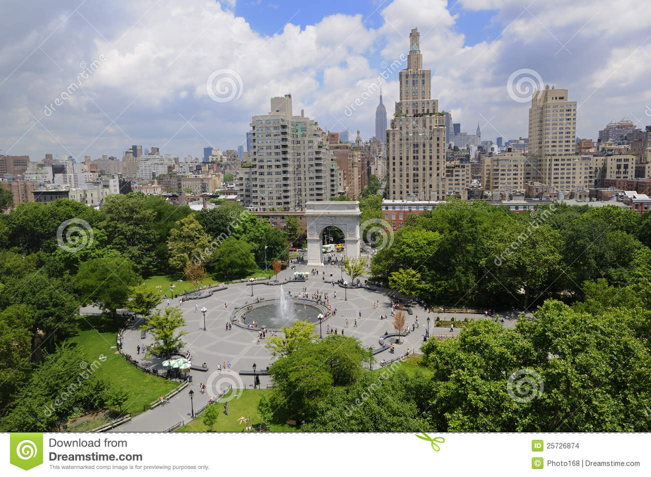 Beautiful day at Union Square, New York City