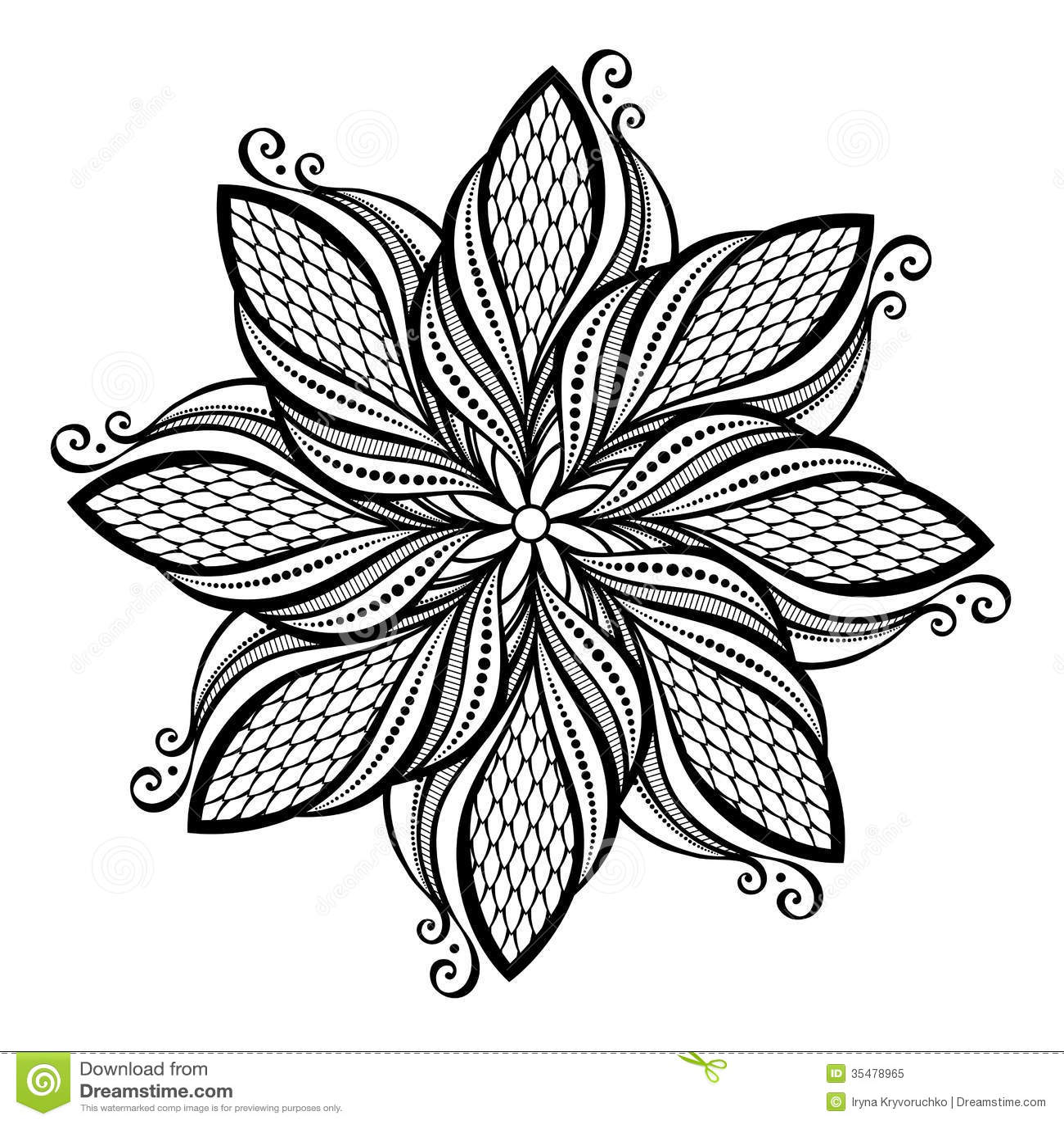 Beautiful Deco Mandala Vector Royalty Free Stock Photo