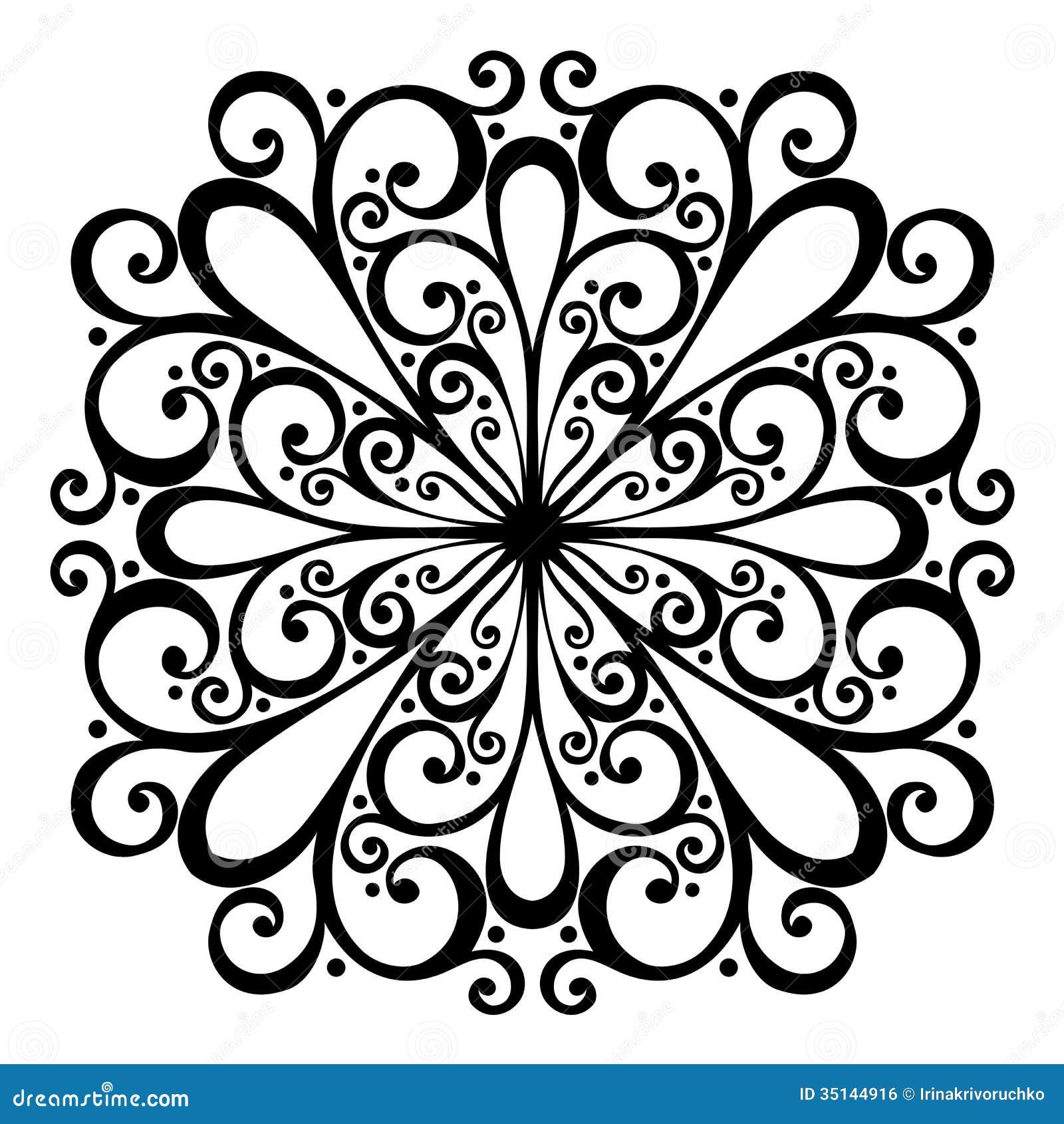 beautiful deco square vector stock vector image 35144916. Black Bedroom Furniture Sets. Home Design Ideas