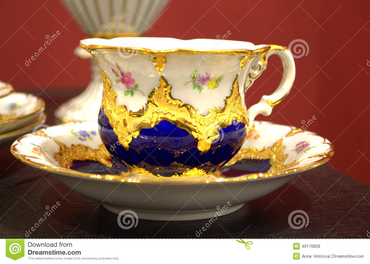 Beautiful Decorated Coffee Cup Stock Photo Image 49176826