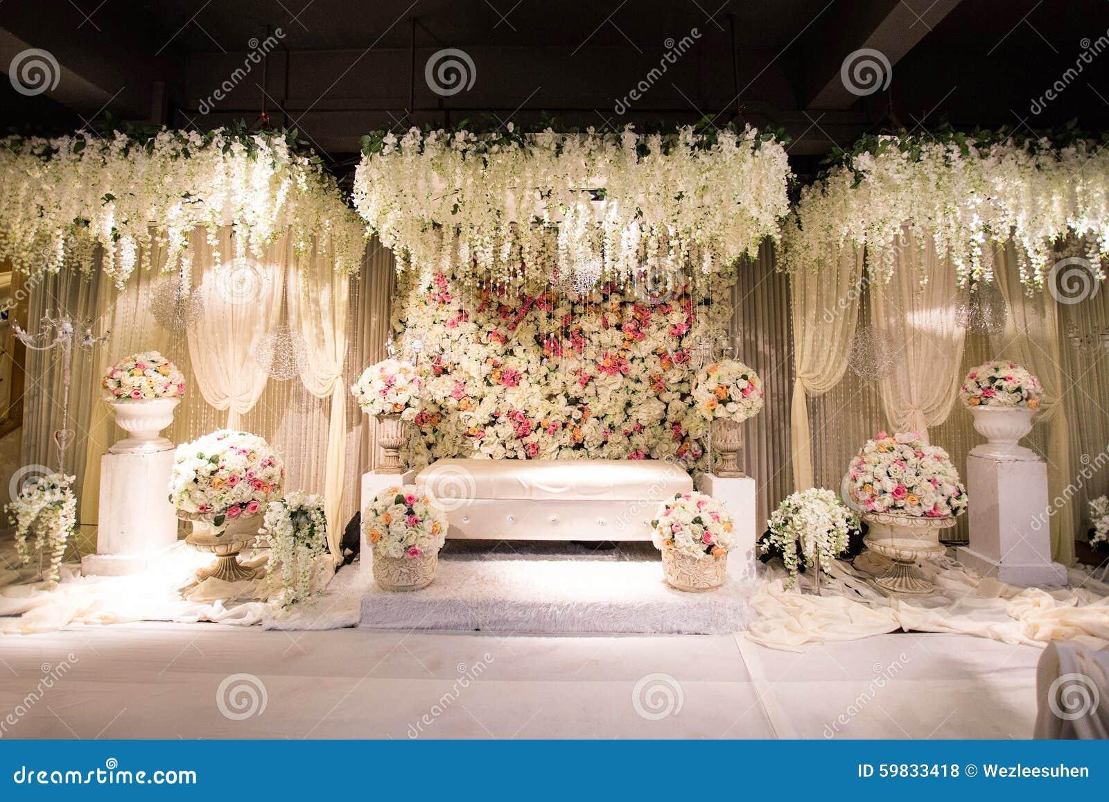 Beautiful decorated english theme wedding altar stock photo beautiful decorated english theme wedding altar junglespirit Gallery