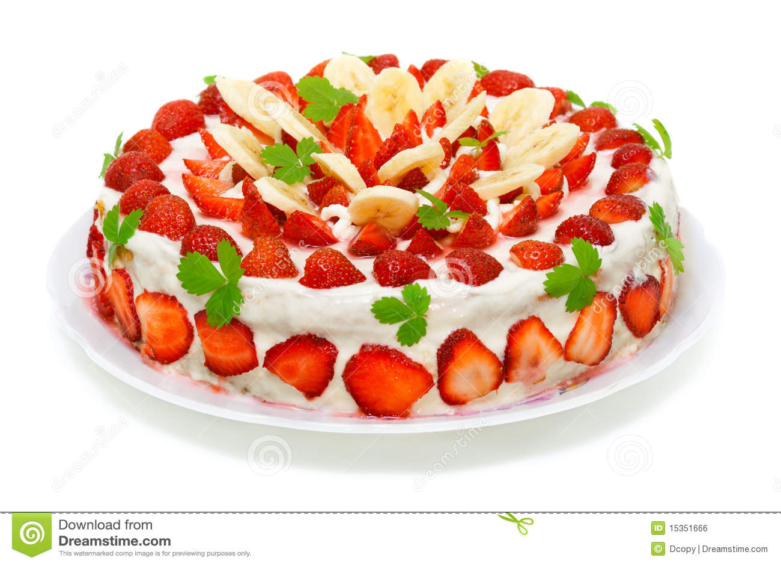 Beautiful Fruit Cake Images : Beautiful Decorated Fruit Cake Stock Photo - Image: 15351666
