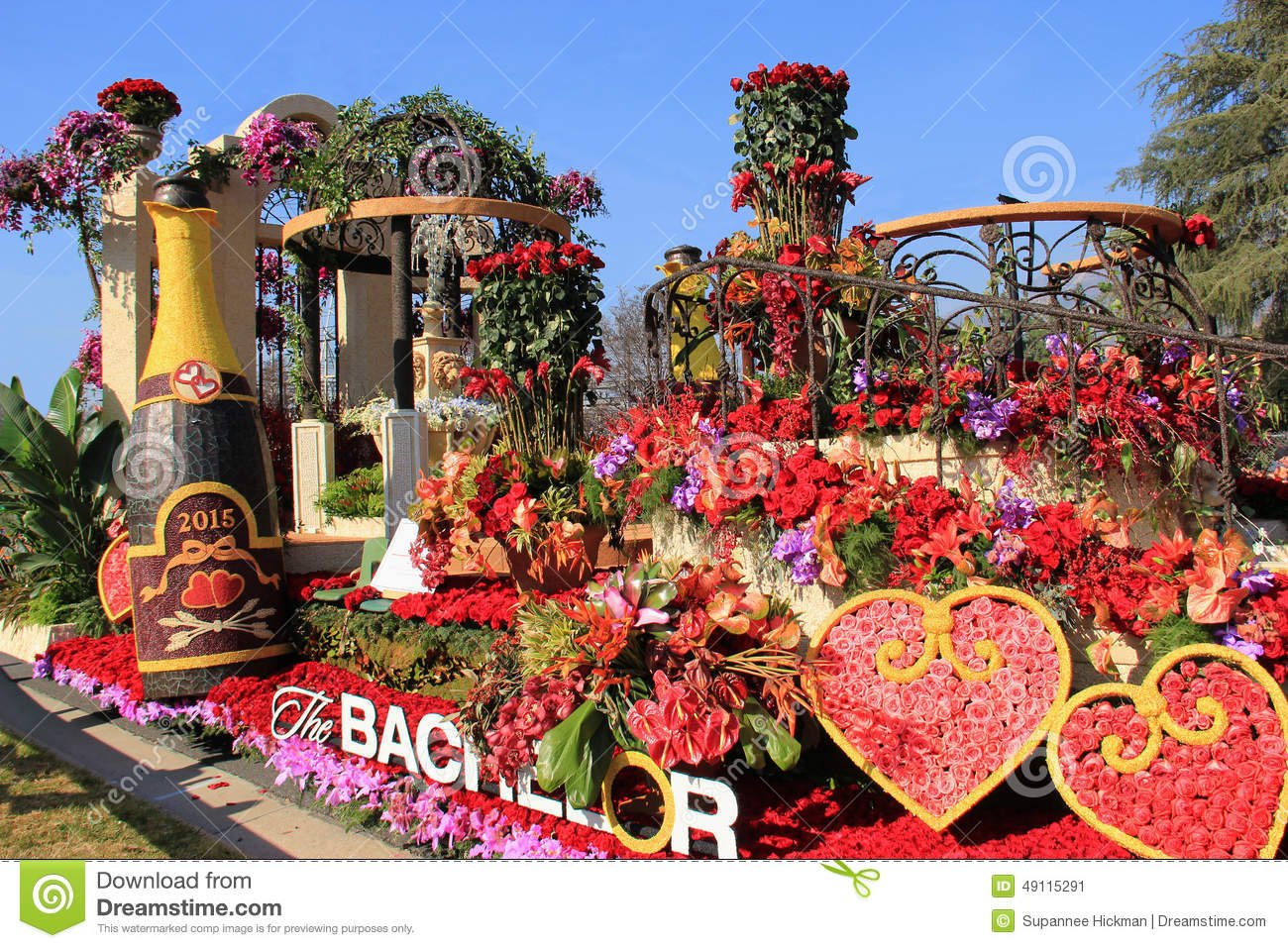 Beautiful Decoration Of Floats In Post Parade Of Tournament Of R