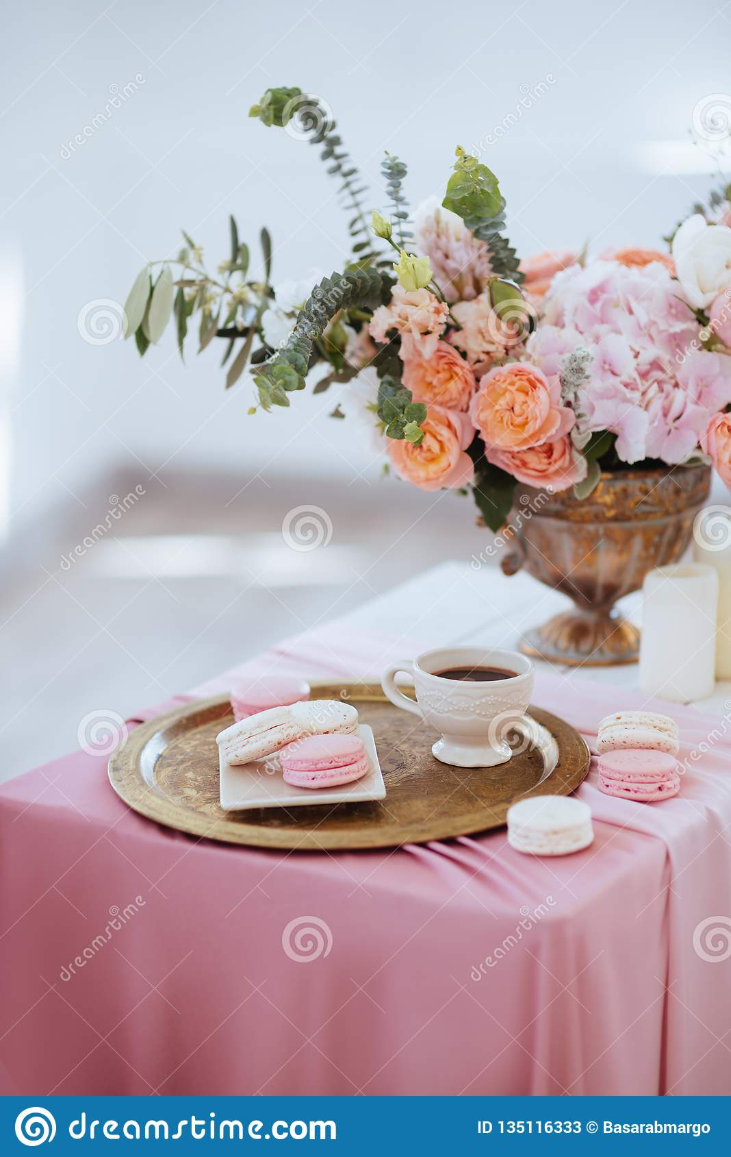 Beautiful Decoration Setup For Wedding Day Stock Image ...