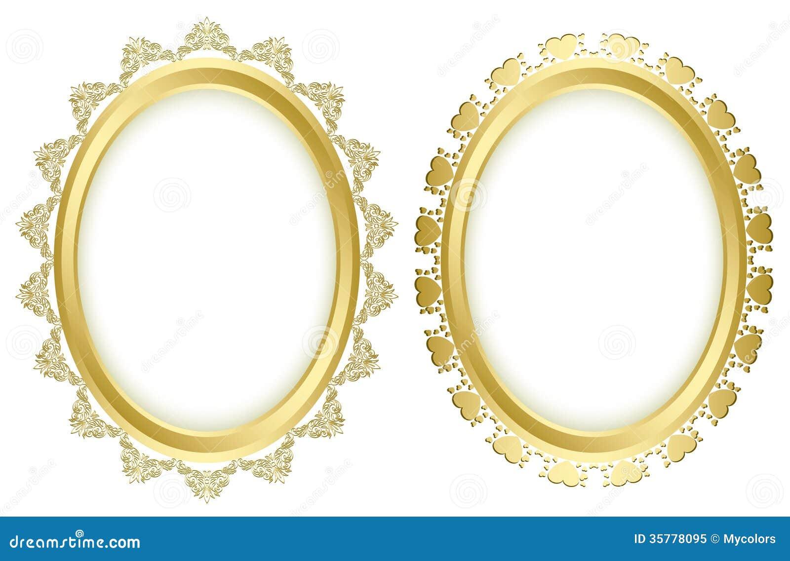beautiful decorative frames vector set