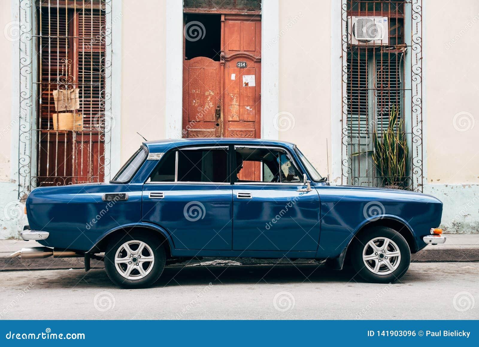 A beautiful classic Lada in Trinidad, Cuba.