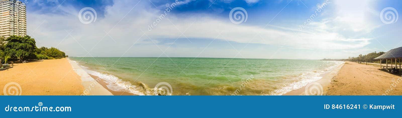 Beautiful 180 Degree Panorama View Of Hotel On The Beach ...