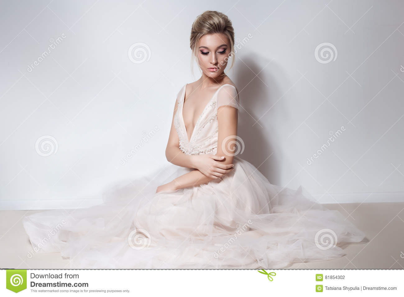 Girl bride in wedding dress royalty free stock image for Wedding dress in stock