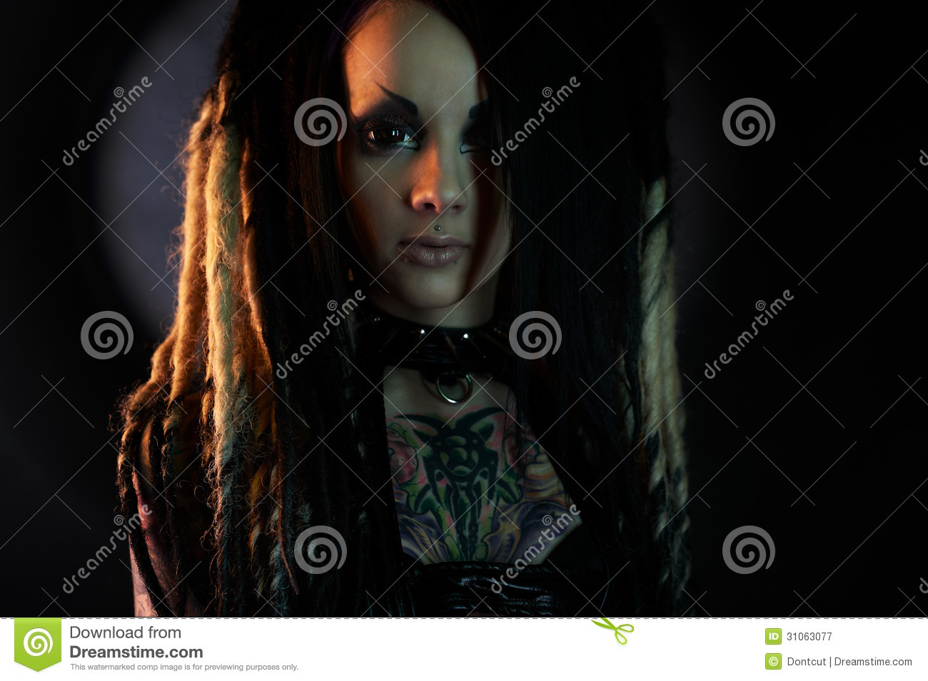 Beautiful Demon Girl With Black Eyes Royalty Free Stock Photography ... Angry Black Woman Face