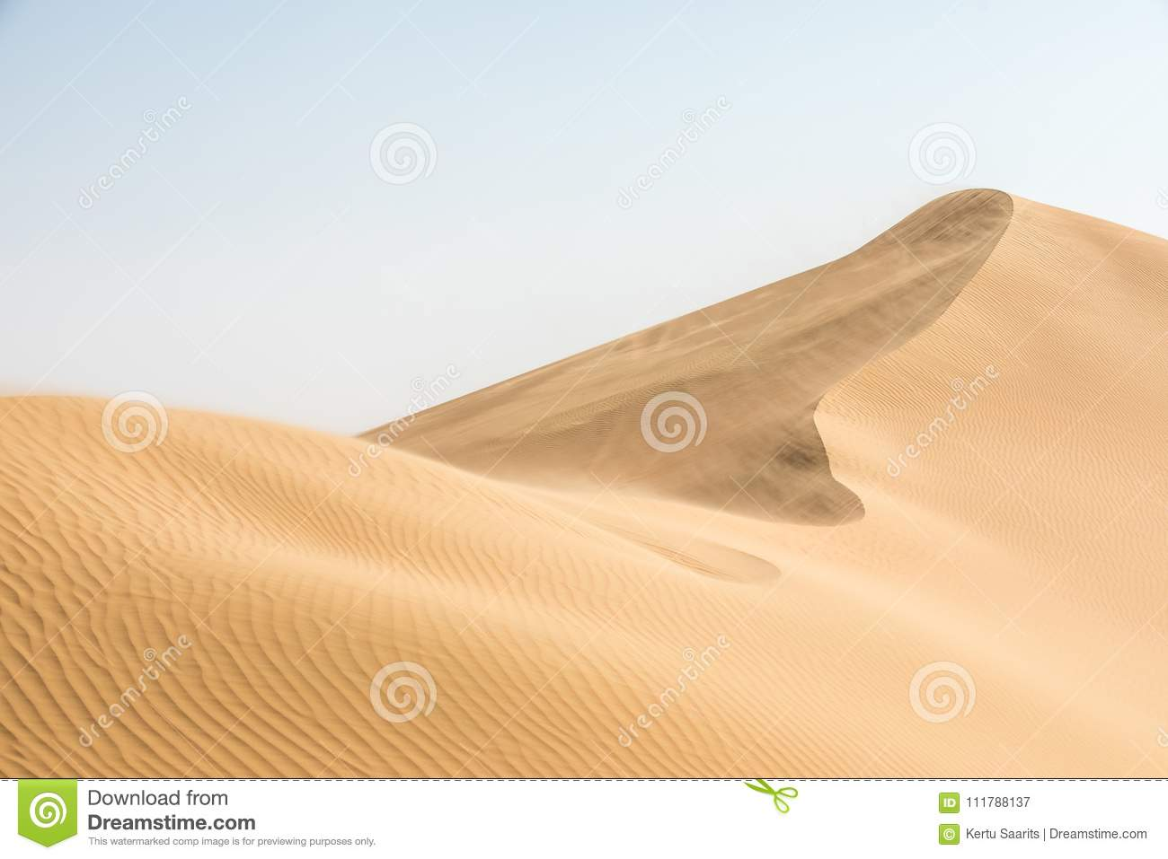 Beautiful Desert Landscape In Early Morning  Stock Image - Image of