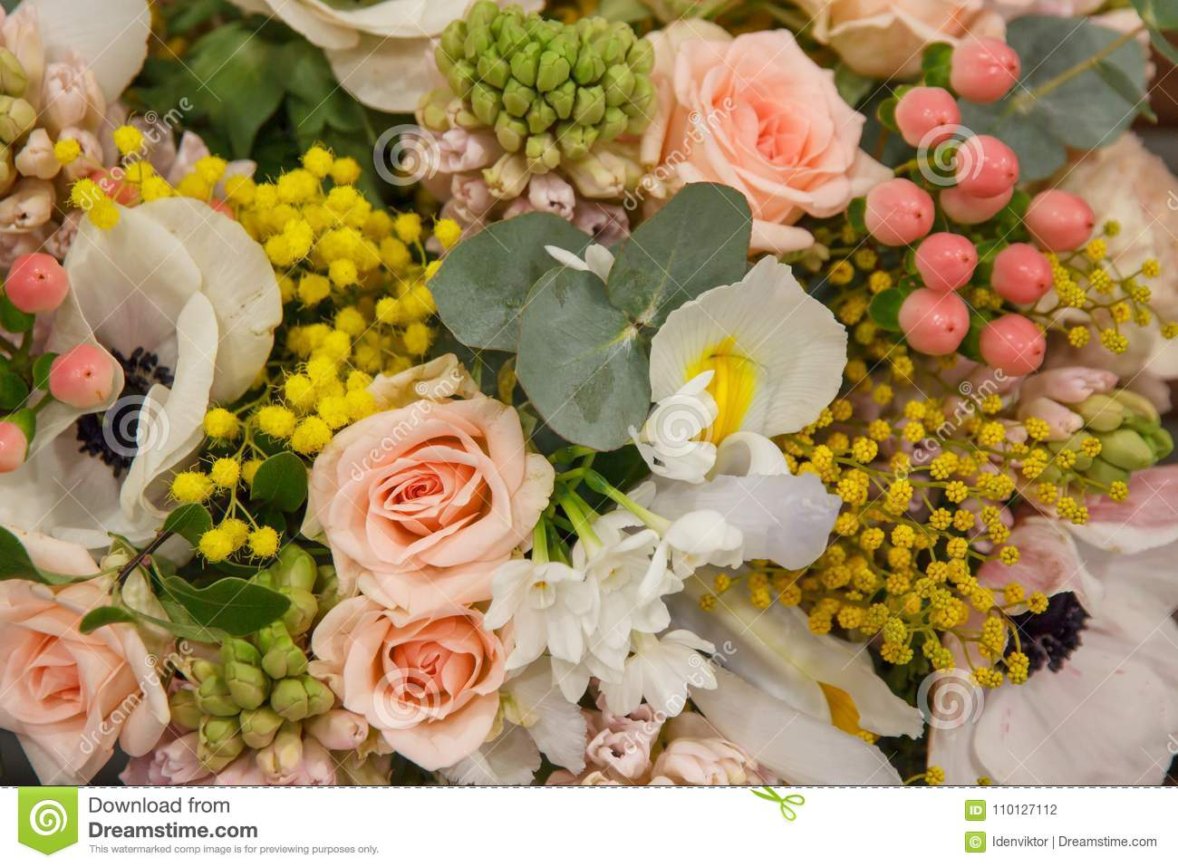 White yellow pink bouquet with different flowers closeup flowers download comp izmirmasajfo