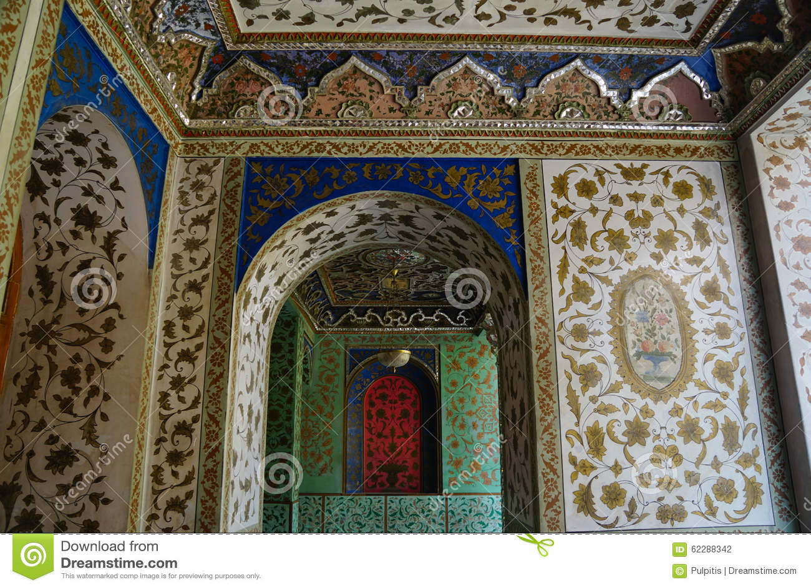 Royalty-Free Stock Photo & Beautiful Detail Of Golestan PalaceTehran Iran. Stock Photo ... Pezcame.Com