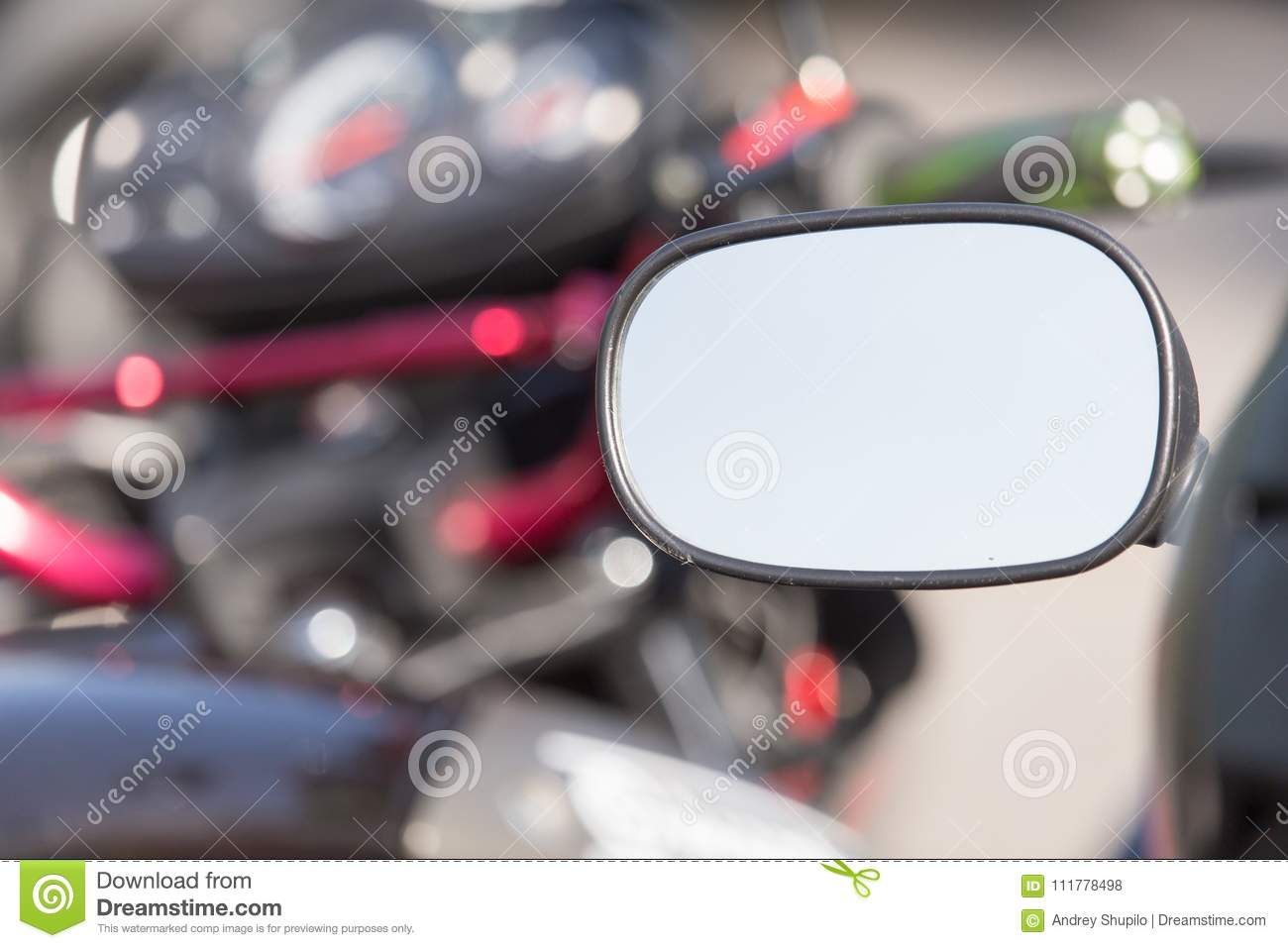 Beautiful detail of the motorcycle. mirror