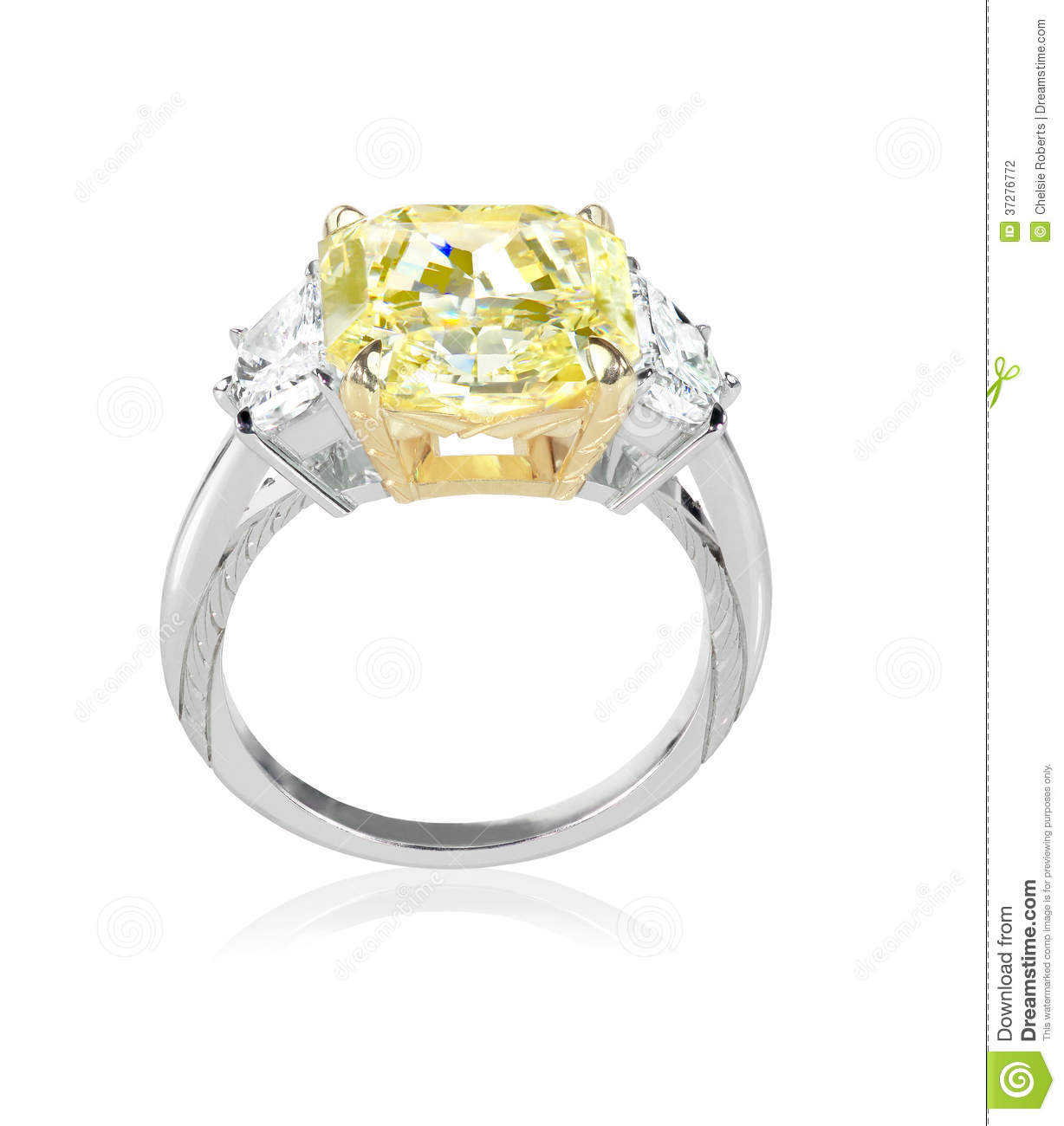 Carat Square Cut Diamond Engagement Ring