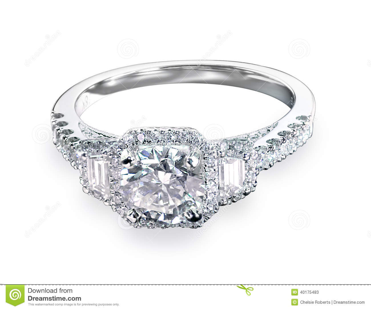Beautiful Diamond Bands: Beautiful Diamond Wedding Engagment Band Ring Solitaire