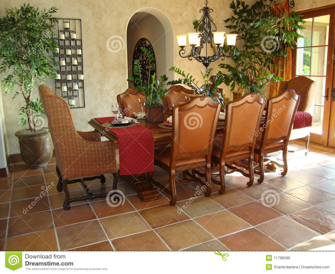 Beautiful Dining Room Stock Photo Image 11796590