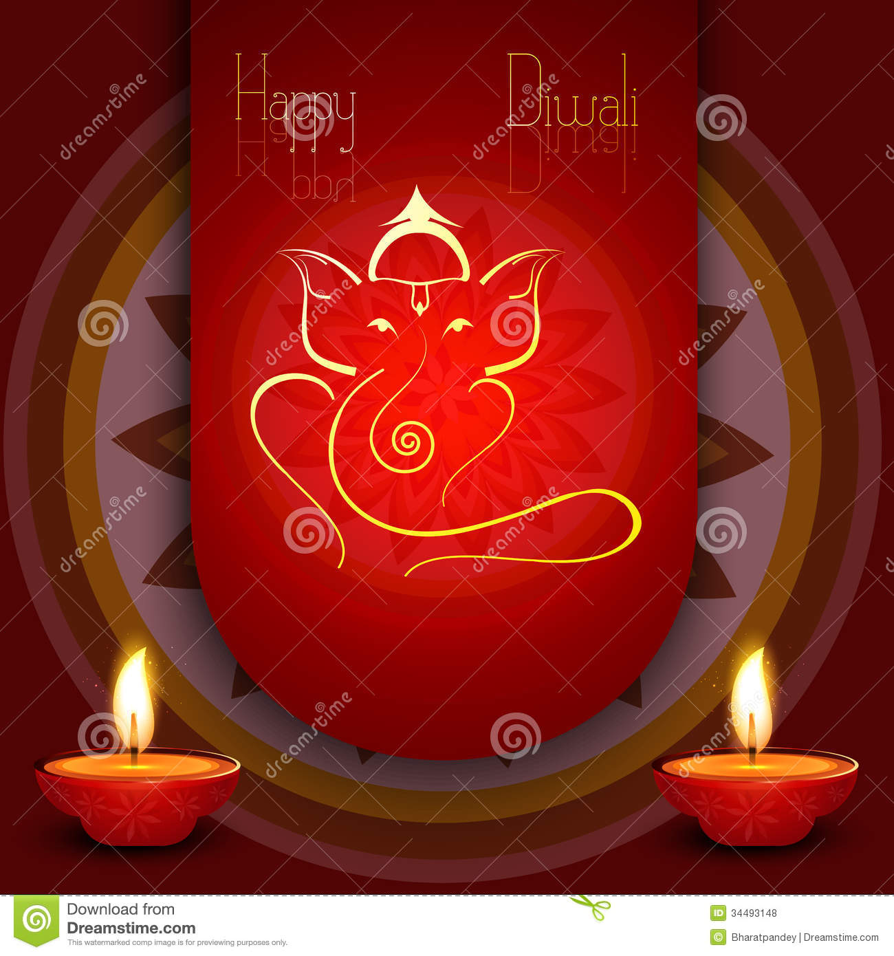 Beautiful diwali greeting card colorful stock illustration beautiful diwali card colorful rangoli artistic lord ganesha royalty free stock photos m4hsunfo