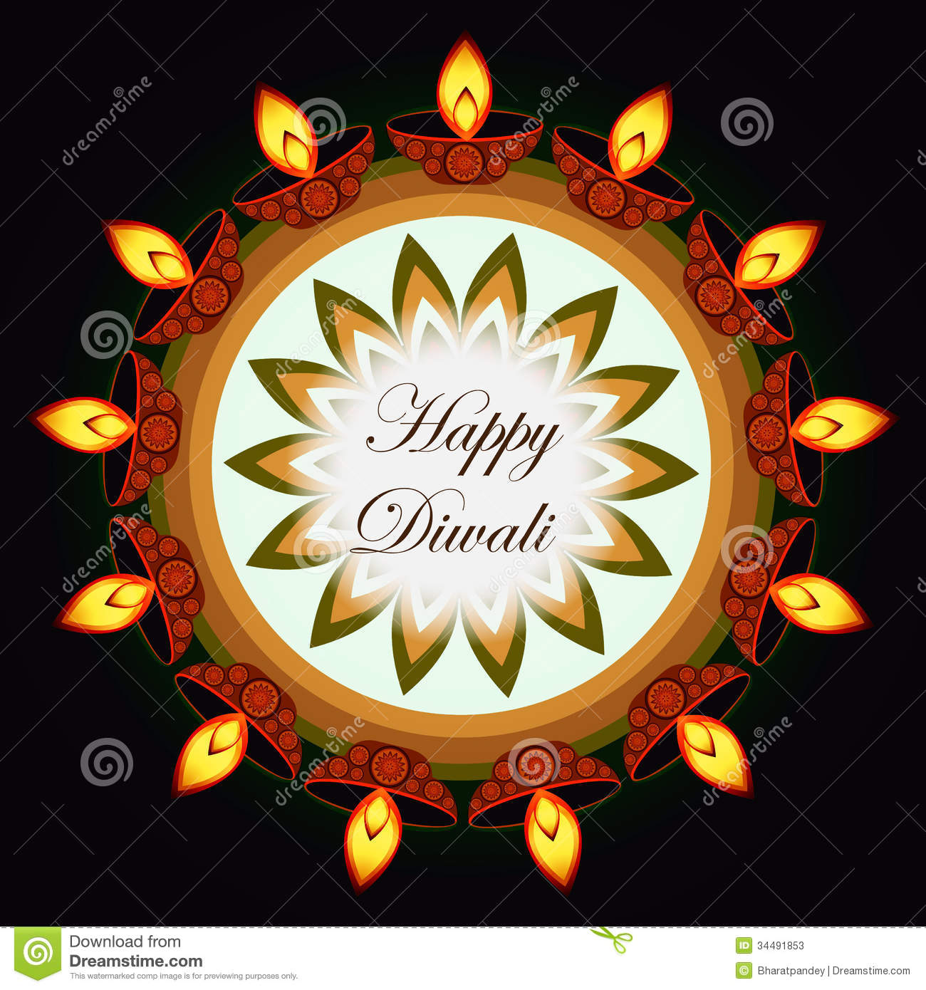 Beautiful diwali greeting card stock illustration illustration beautiful diwali greeting card royalty free stock photo kristyandbryce Image collections