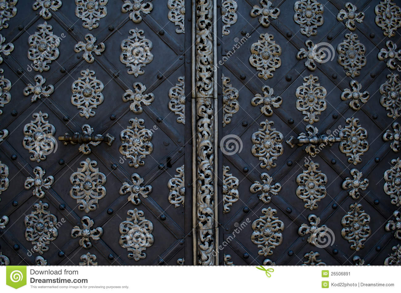 Beautiful door of a church in prague stock image image for Door z prague
