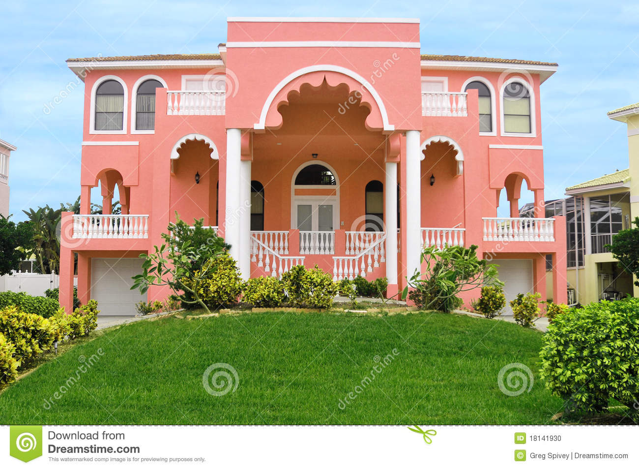 Beautiful East Indian Home Stock Photo Image 18141930