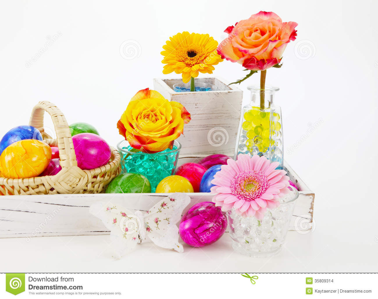 Beautiful Easter Decorations Stock Images Image 35809314