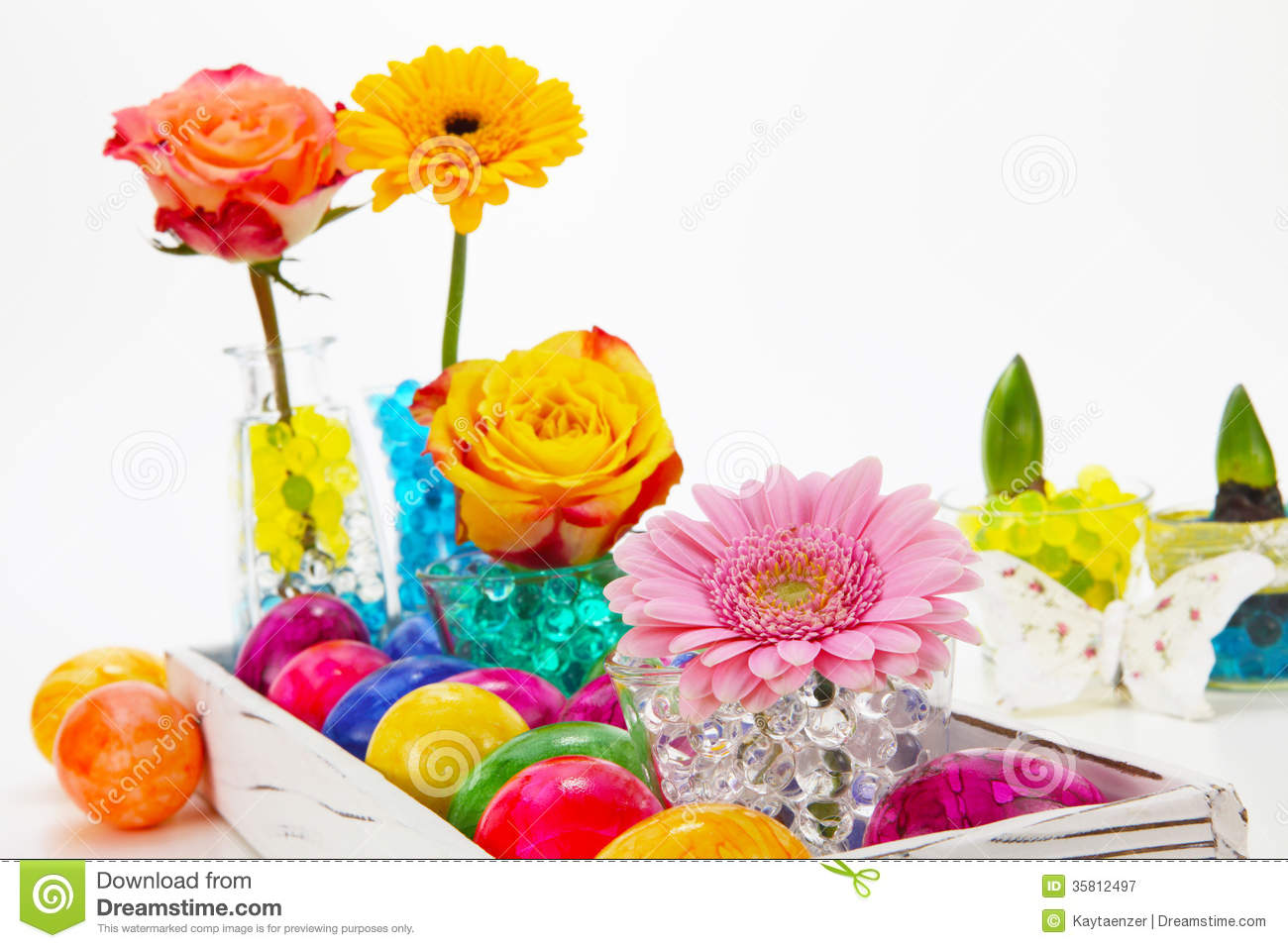 Beautiful Easter Decorations Stock Image Image 35812497