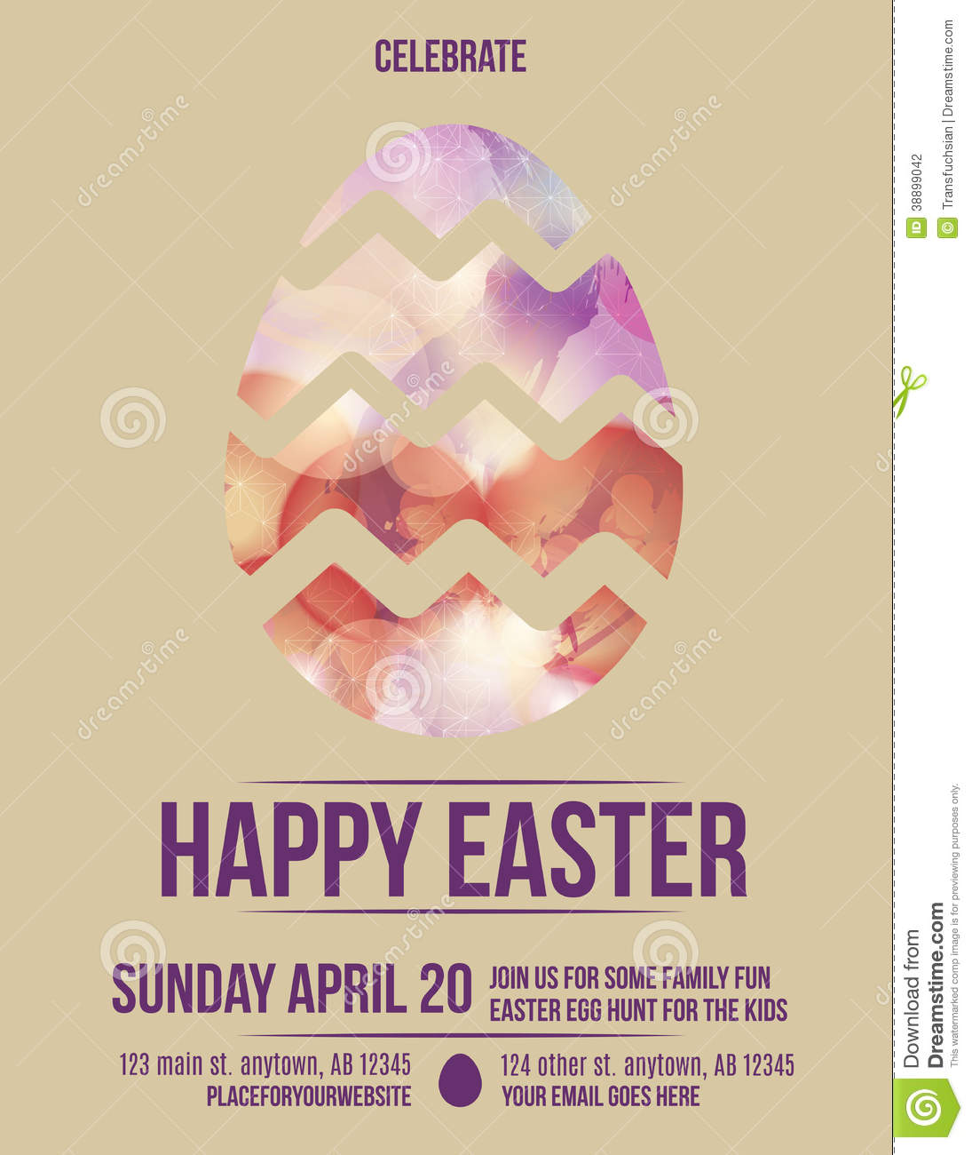 Beautiful easter egg flyer invitation stock vector illustration of beautiful easter egg flyer invitation maxwellsz