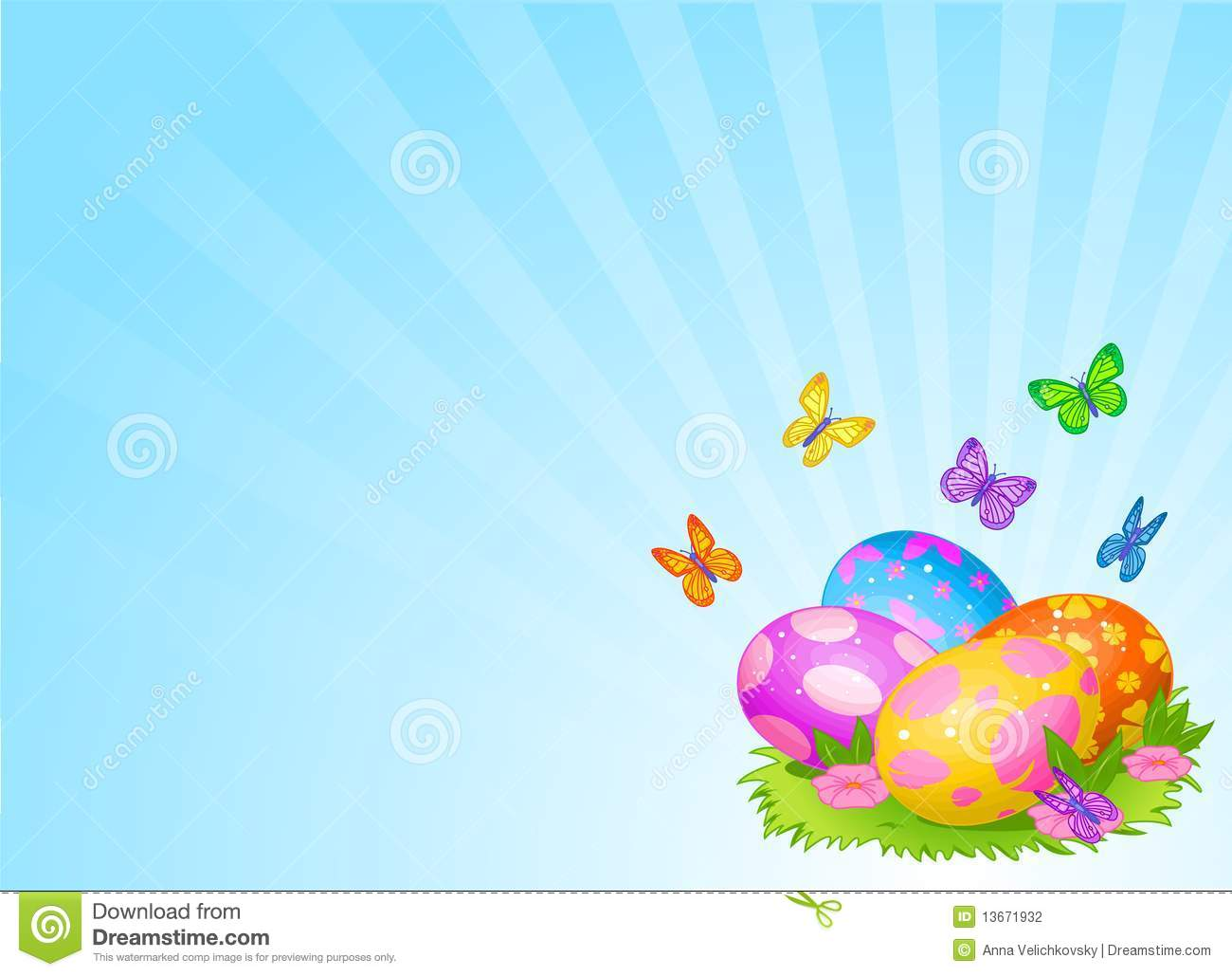 beautiful easter eggs background - photo #9