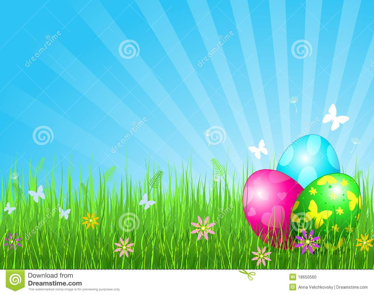 beautiful easter eggs background - photo #3