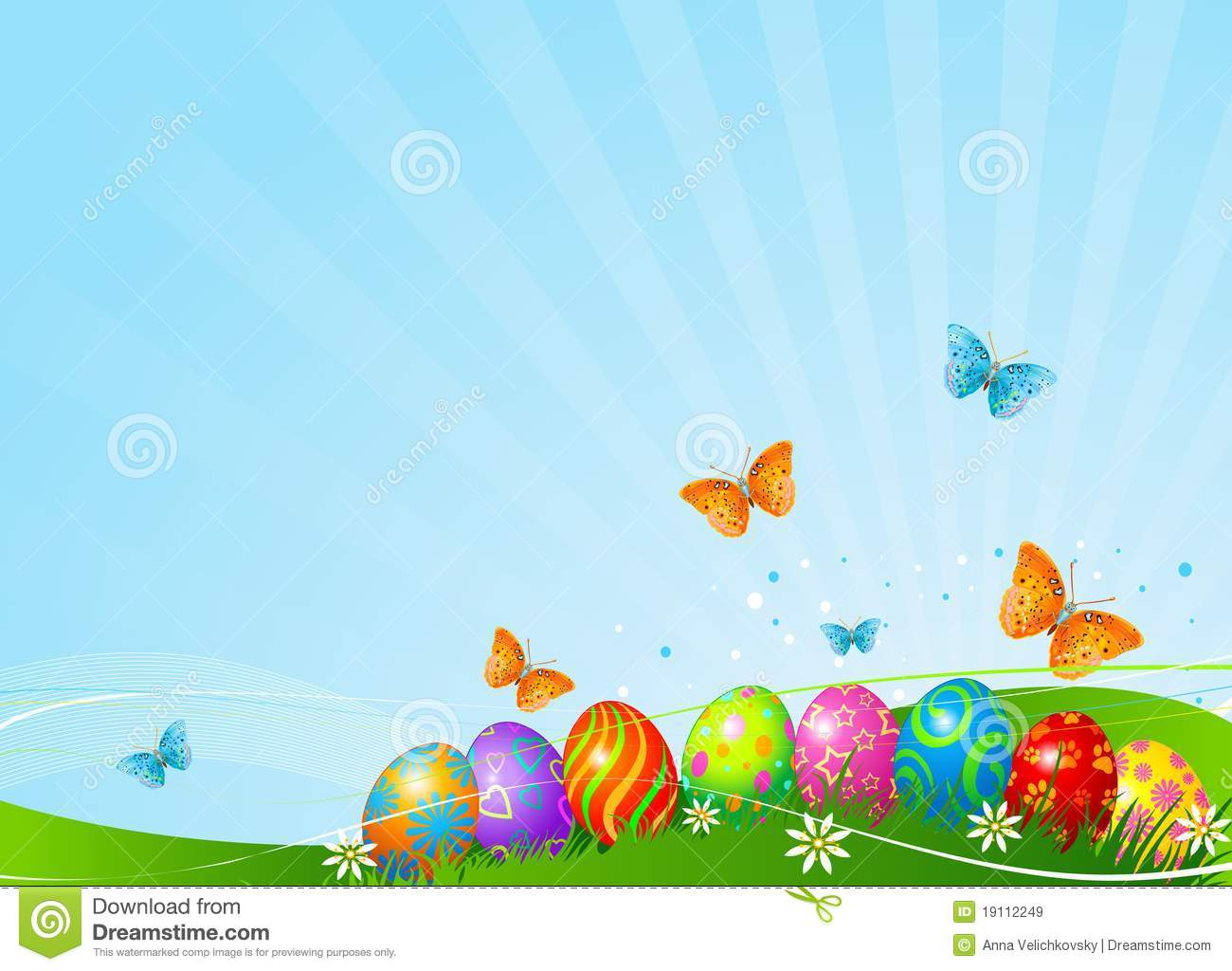 beautiful easter eggs background - photo #1