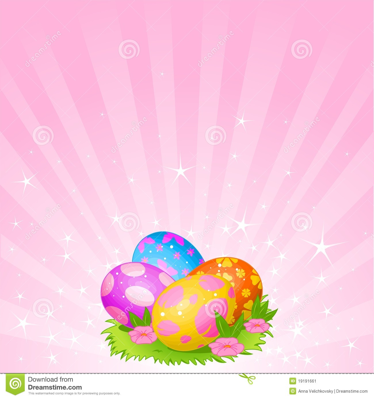 Beautiful Easter Eggs Background Stock Image