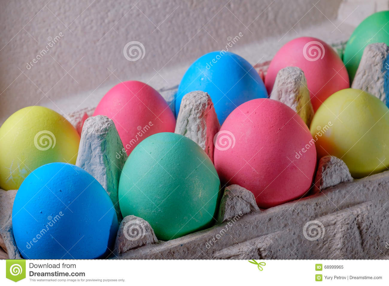 Beautiful Easter eggs of different colors