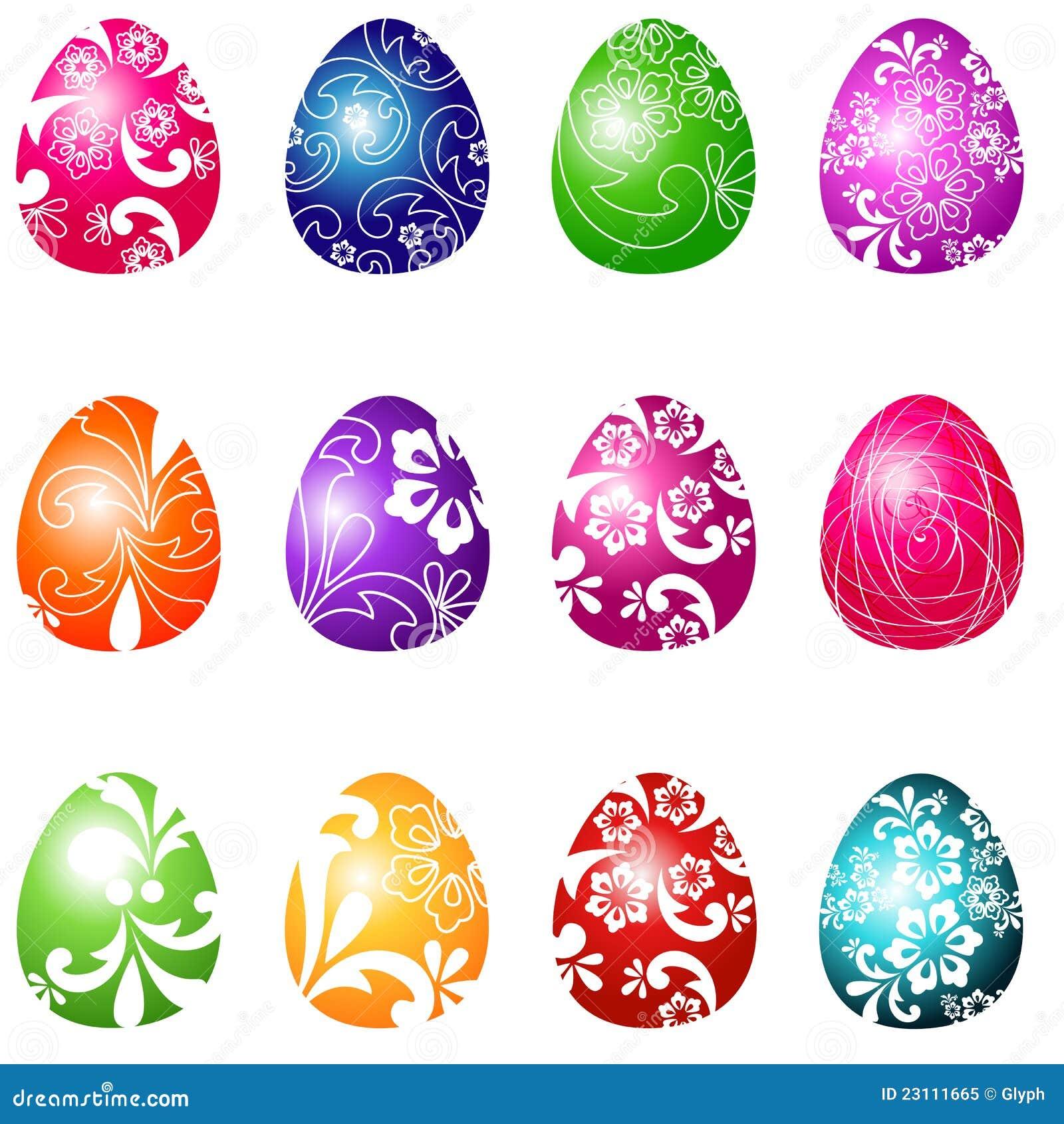beautiful easter eggs illustration royalty free stock photo