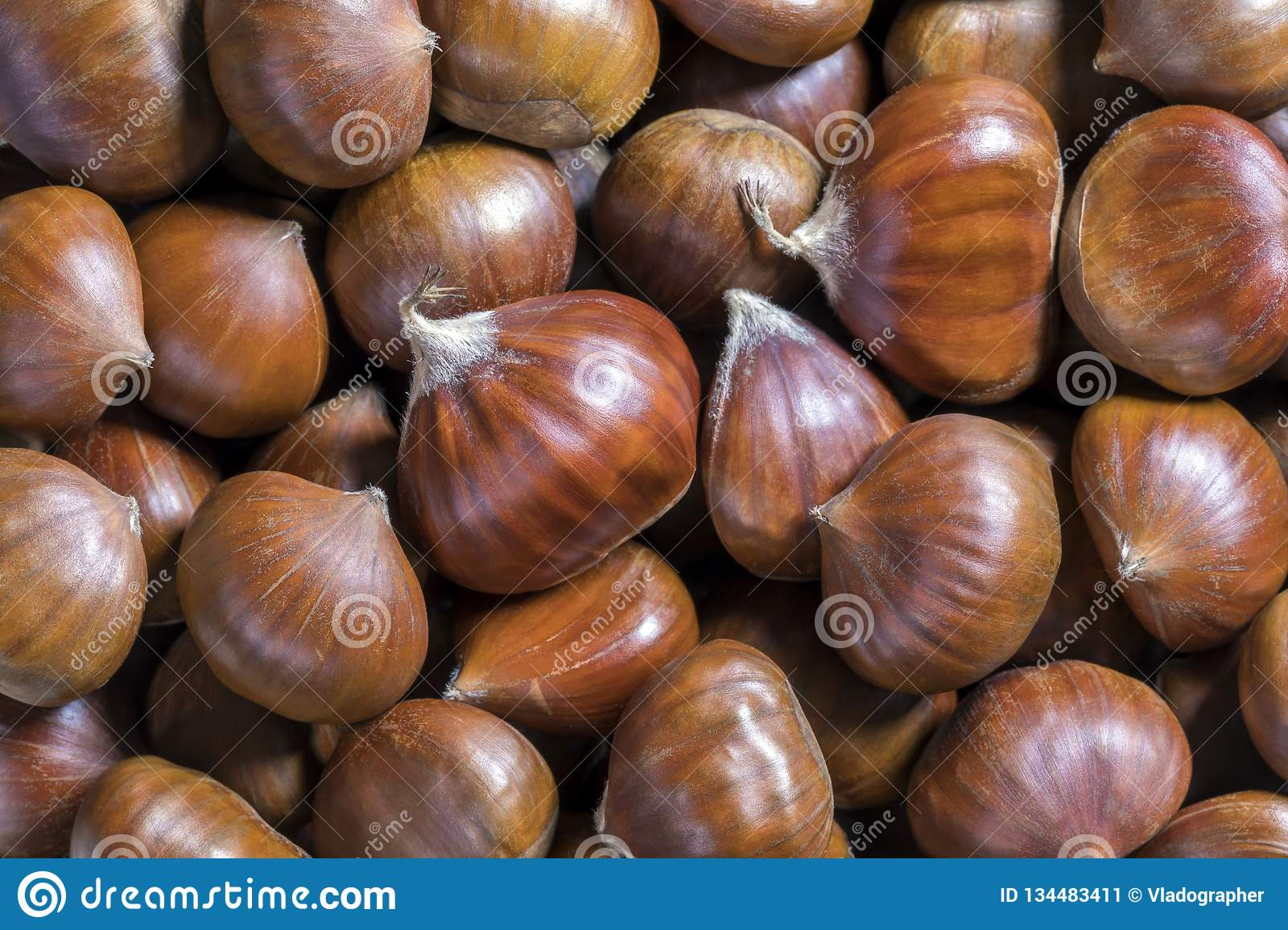 Beautiful Edible Chestnuts Background