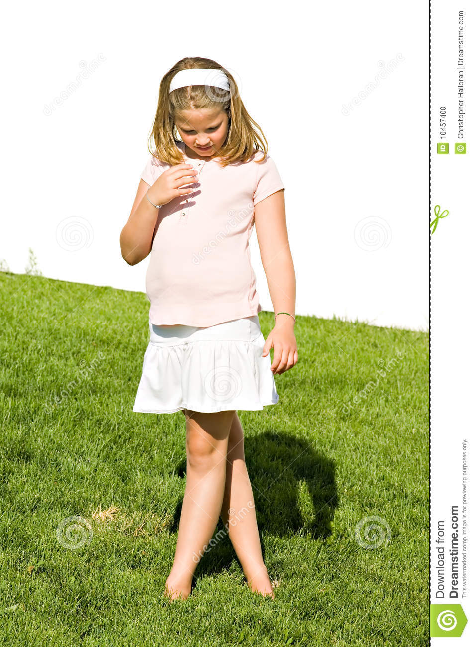Beautiful Eight Year Old Girl Royalty Free Stock Photos