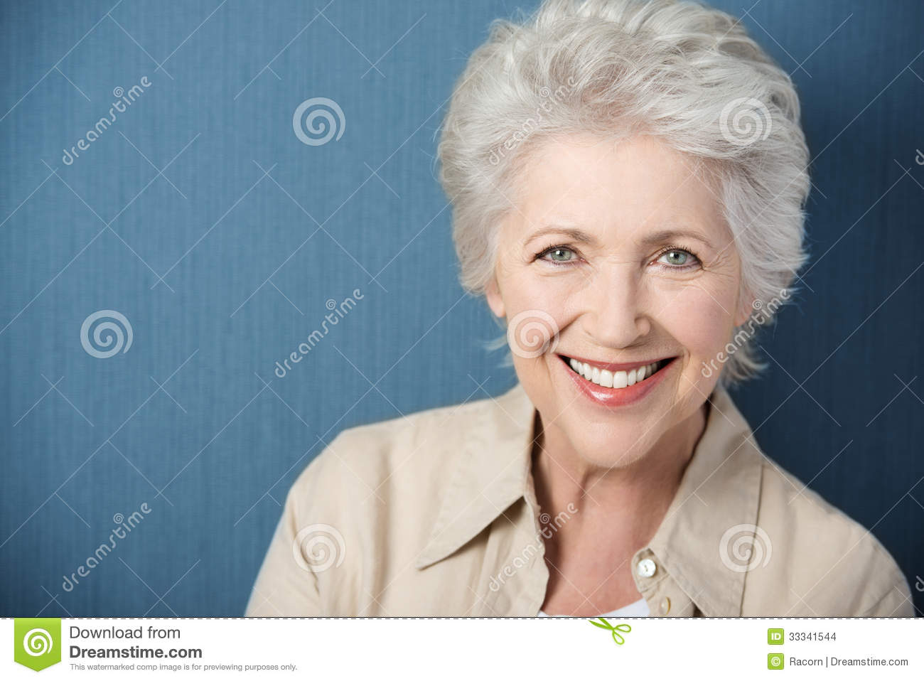 Beautiful elderly lady with a lively smile