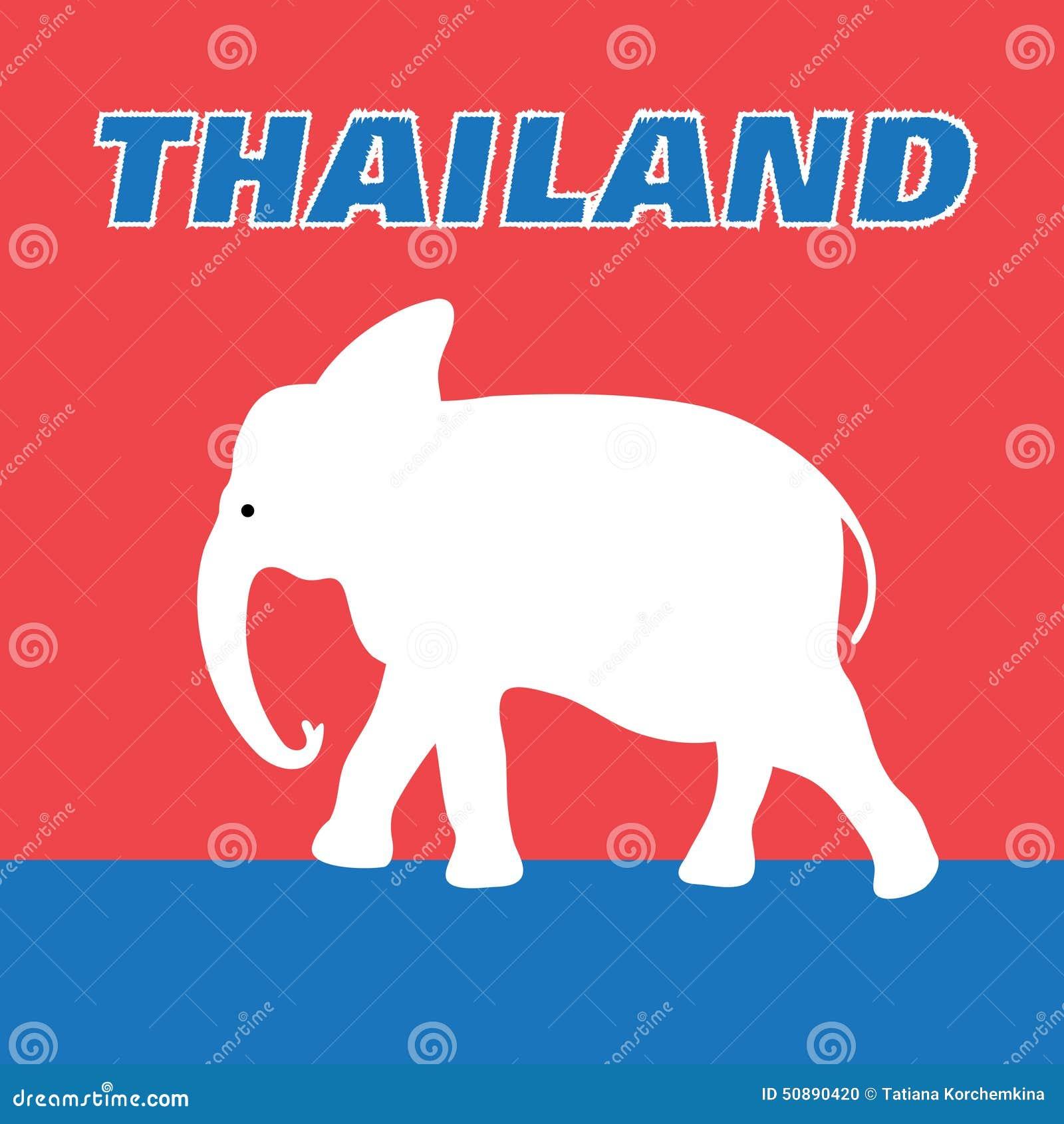 Beautiful Elephant Symbol Of Thailand Stock Vector Illustration Of